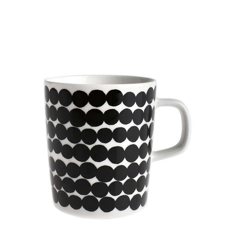 Marimekko Kitchen - Large Mug - Rasymatto 190 Black/White