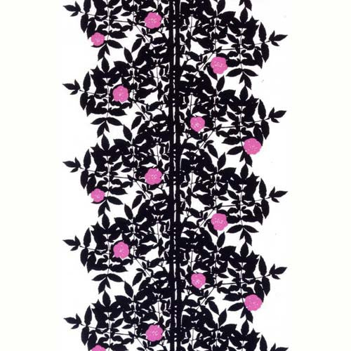 Marimekko Fabric - Cotton - Ruusupuu 008 Black
