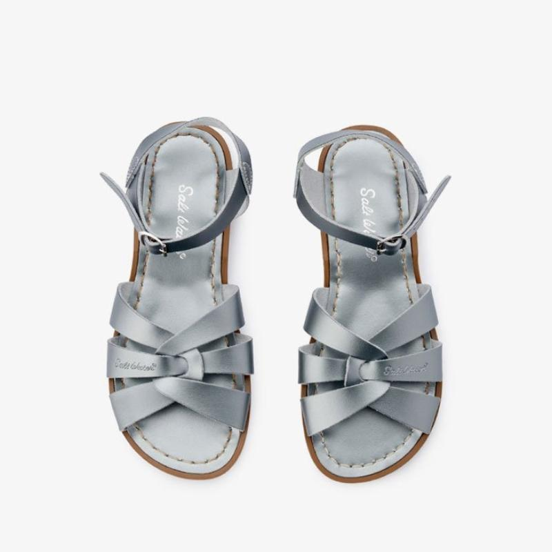 6e9c52f9a Salt Water Sandals - Adults - Pewter – Kiitos Living by Design