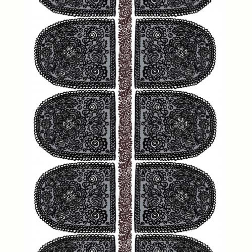 Marimekko Fabric - Cotton - Satula 006 Black