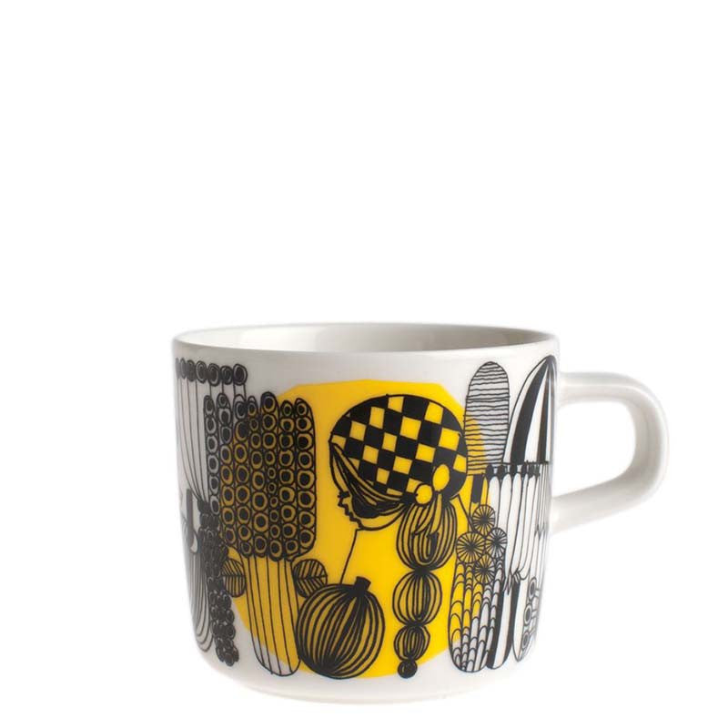 Marimekko Kitchen - Coffee Cup - Siirtolapuutarha 192 Black & Yellow