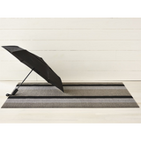 Chilewich Shag Big Mat - Bold Stripe - Silver/Black