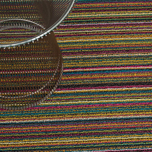 Chilewich Shag Big Mat - Skinny Stripe - Bright Multi