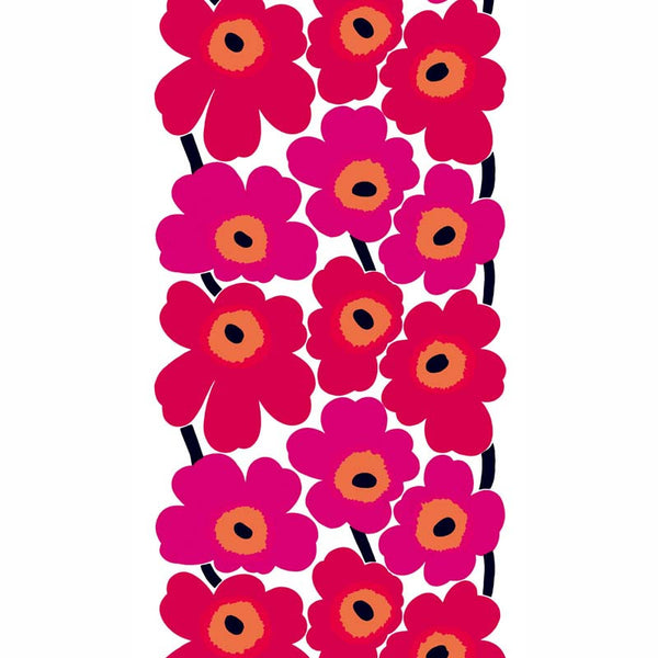 Marimekko Fabric - Coated Cotton - Unikko 001 Red/Pink