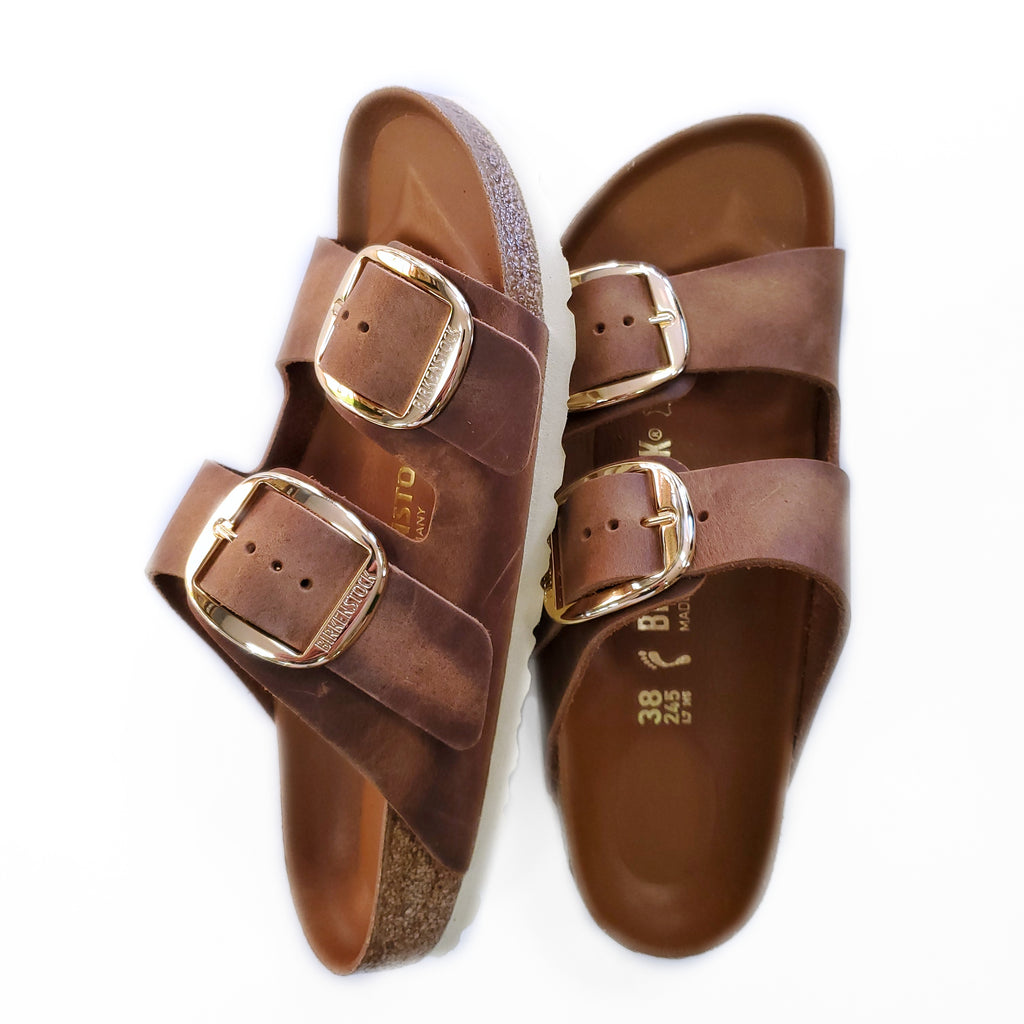 Birkenstock Arizona Big Buckle Cognac Brown Leather