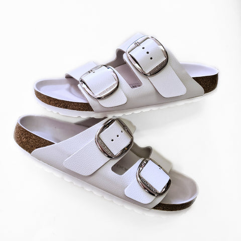 Birkenstock Arizona Big Buckle White Leather