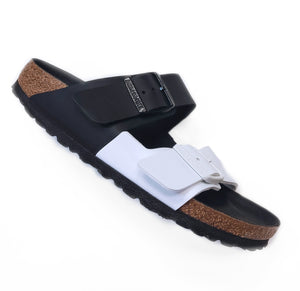 Birkenstock Arizona Split Black/ White Sandal