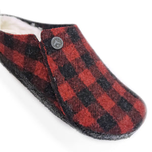 Birkenstock Zermatt Slipper Plaid Red