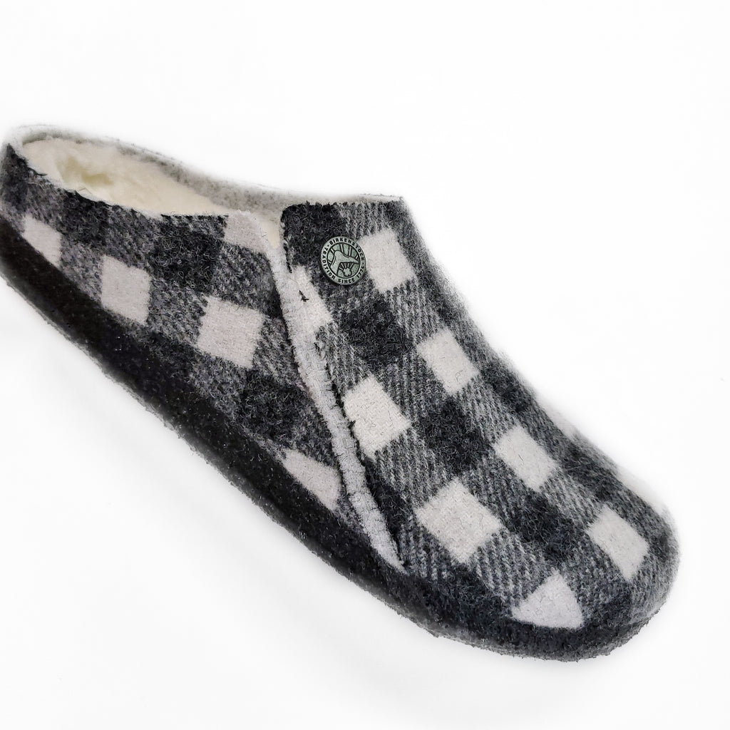 Birkenstock Zermatt Slipper Plaid White