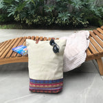 Beige Inabel tote bag, handwoven from Philippines