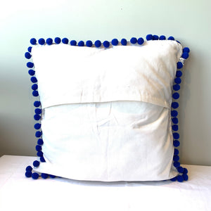Inkaot/ Insukit Inabel pillow cover, blue and red