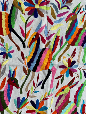 Hand embroidered Otomi tablecloth