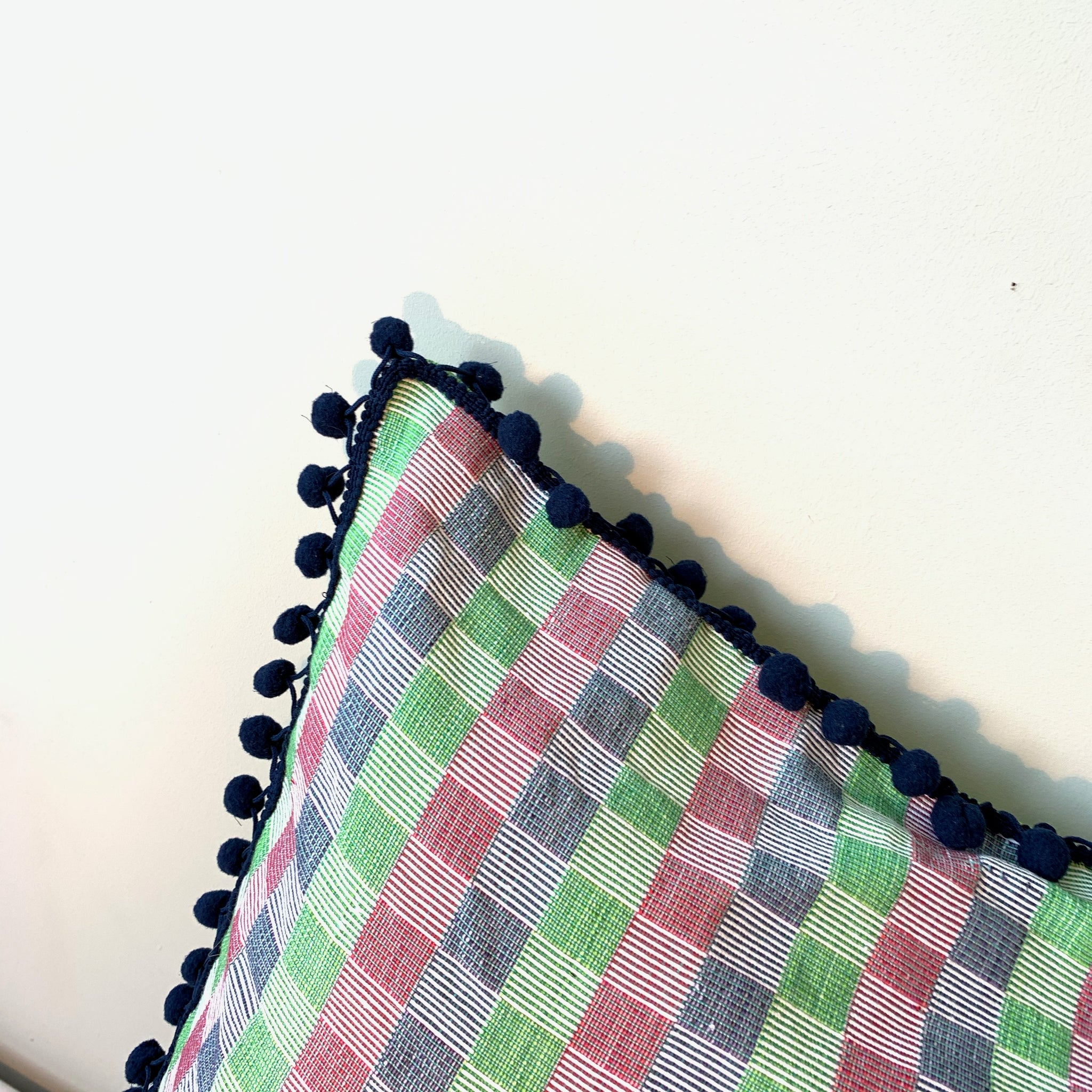 Checkered Inabel pillow cover from Philippines