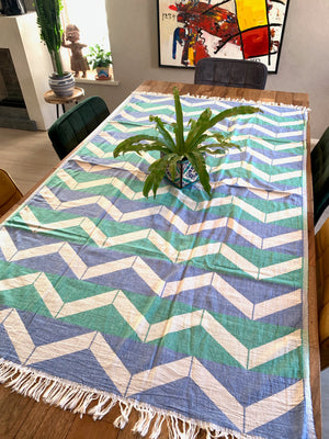 Handwoven tablecloth/blanket from Morocco *wave