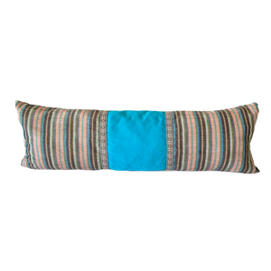 Long Kantarines lumbar pillow *Turquoise/pink
