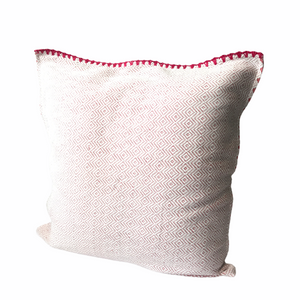 Hand woven Inabel pillow cover with colourful backing
