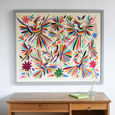 Hand embroidered Otomi fabric (wallhanging)