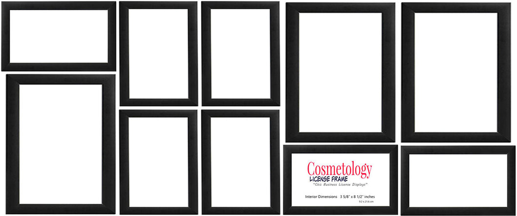 Simple Black Wood Frame Collage Set of 10 Frames