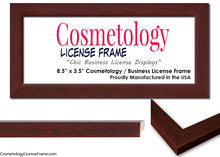 Simple White Wood Cosmetology License Frame
