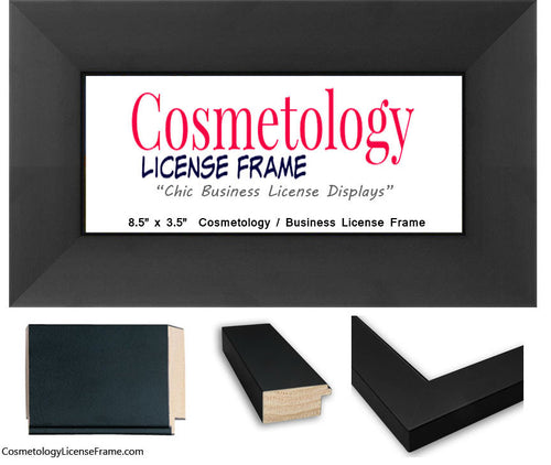 wide black wood cosmetology frame