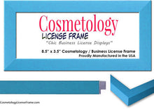 "Simple Black Wood Cosmetology License Frame - 5"" x 3.5"" Inches"
