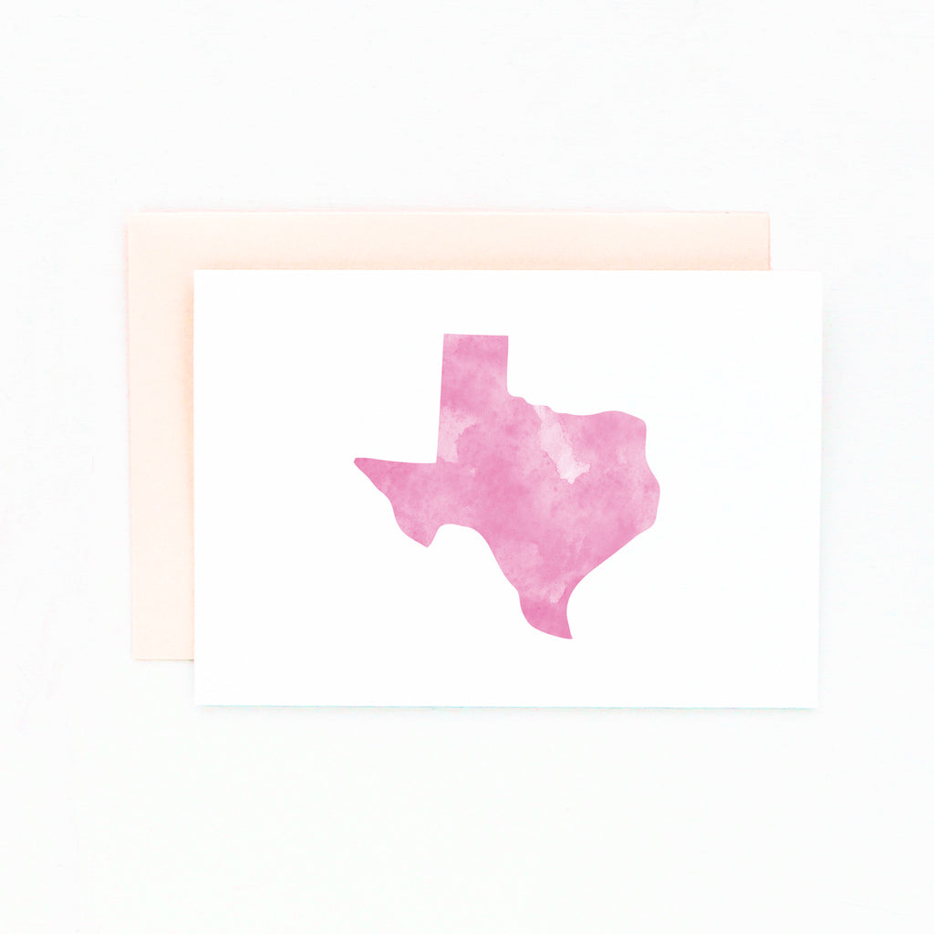 watercolor texas stationery set