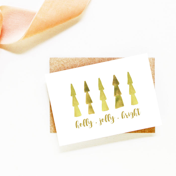 holly jolly bright card set