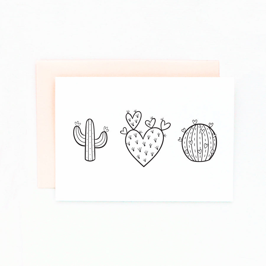 diy cactus card set