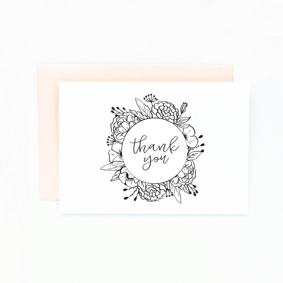 diy floral thank you card set