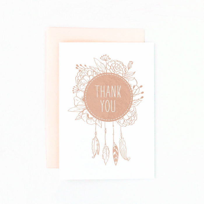 dreamcatcher thank you card