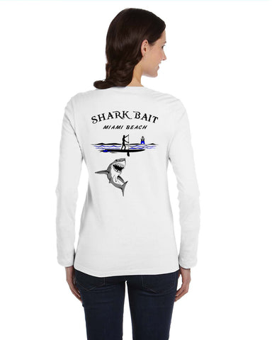 Ladies 'Paddle Bait' Long Sleeve T-shirt