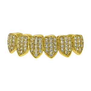 CZ Gold Bling Grillz Bottom Teeth - Presidential Brand (R)