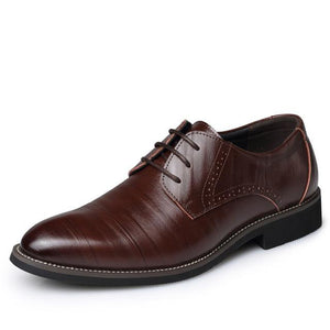 Mens Business Casual Oxford Leather Shoes