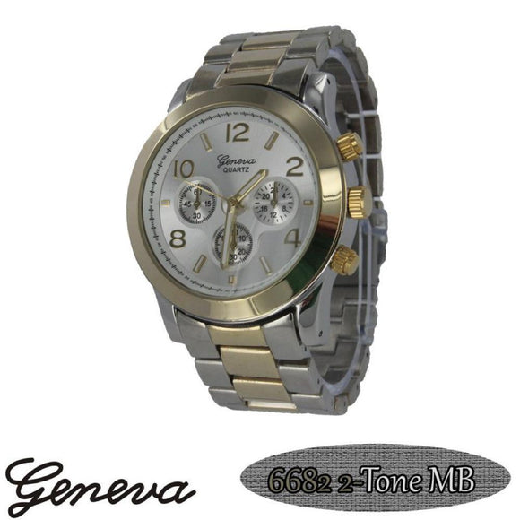 Classic Techno Pave Watch 2-Tone - Presidential Brand (R)