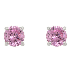 Pink Cubic Zirconia Stud Earrings - Presidential Brand (R)