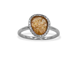 Sterling Silver Peach Paraiso Band Ring - Presidential Brand (R)