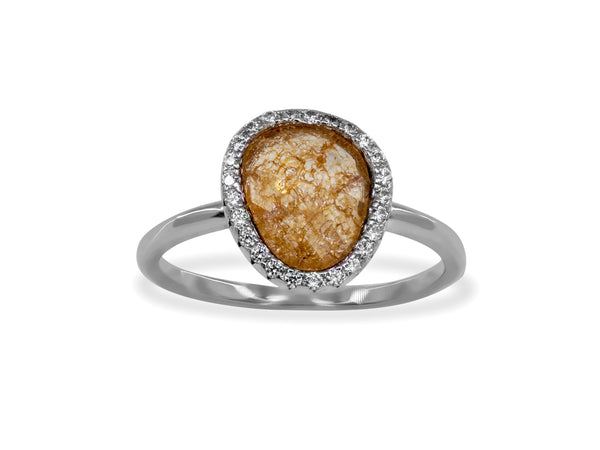 Sterling Silver Peach Paraiso Band Ring