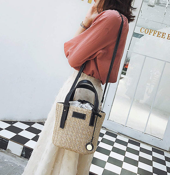 Straw Bucket Bag - Presidential Brand (R)