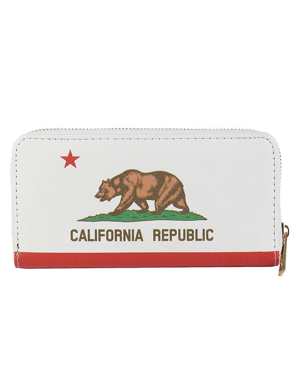 BIG BEAR PRINT VINYL CLUTCH WALLET