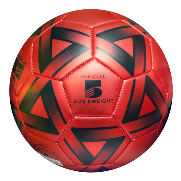 Size 5 Metallic Red & Black Soccer Ball