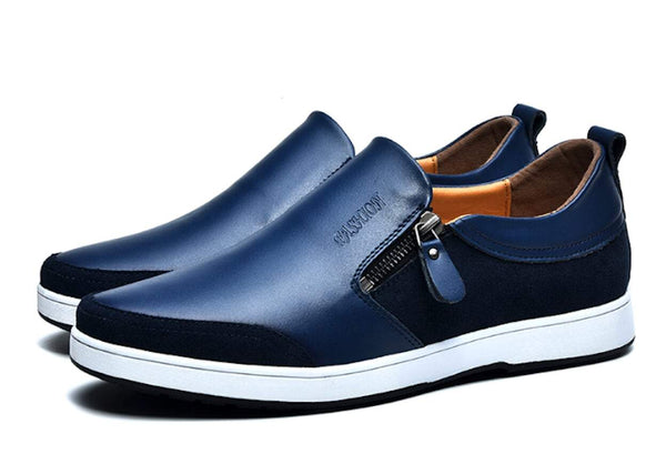 Mens Slip On with Side Zipper