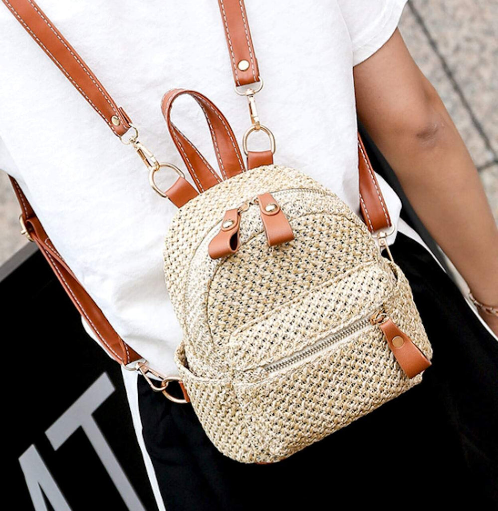 Mini Straw Backpack