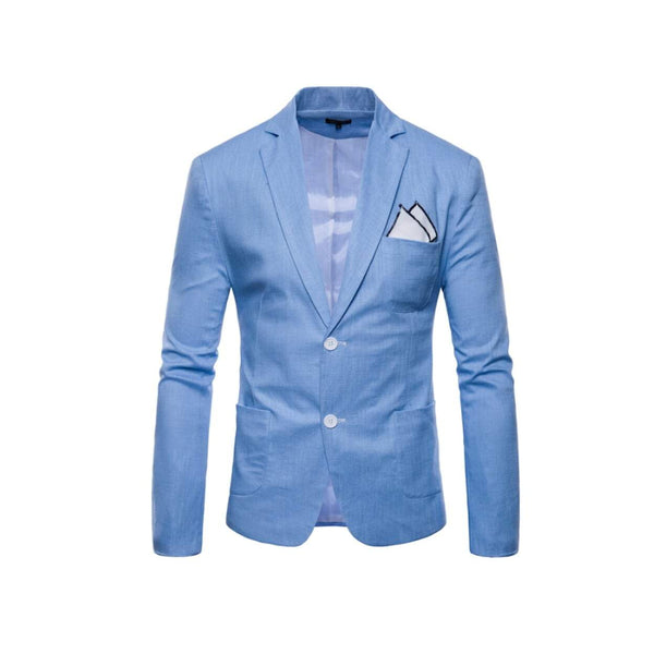 Mens Linen Two Button Blazer
