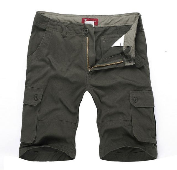 Mens Army Green Cargo Shorts