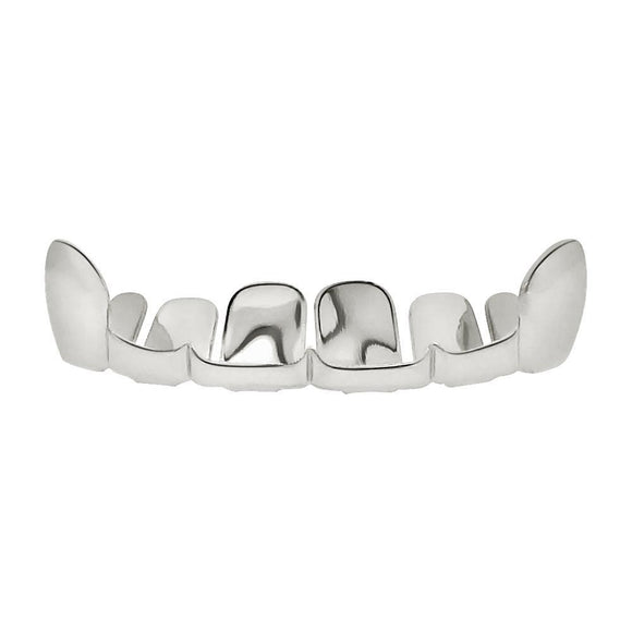 Silver Grillz Half Open Top Teeth