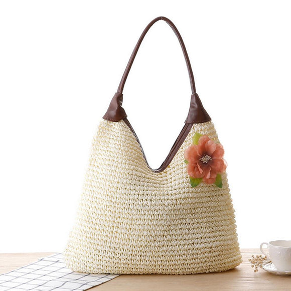 Casual Straw Shoulder Bag
