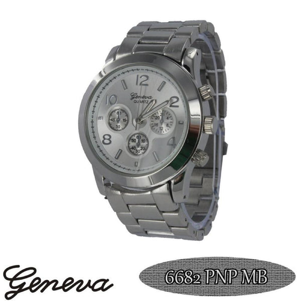 Classic Techno Pave Watch Silver
