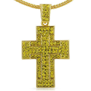Thick Lemonade Cross Pendant Chain Small - Presidential Brand (R)