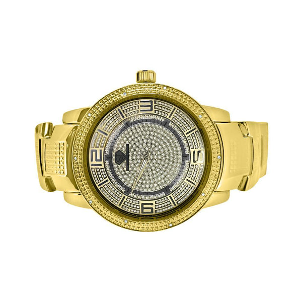 Nice Gold Super Techno Hip Hop Diamond Watch