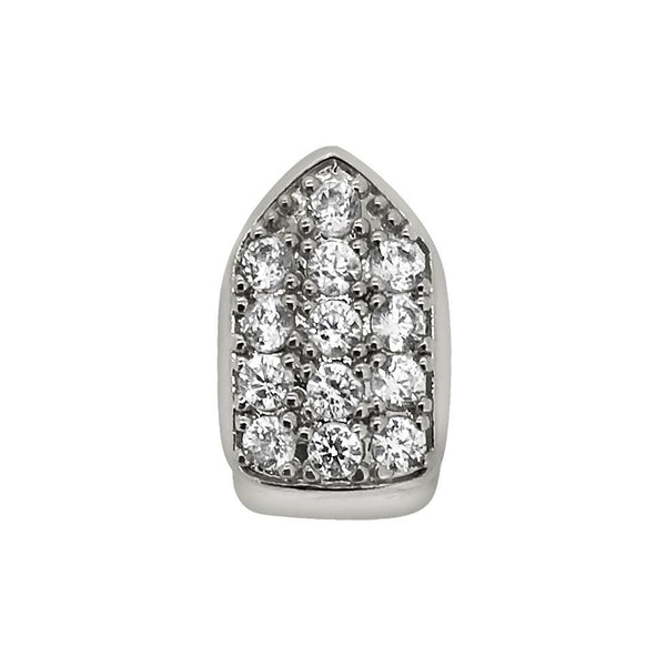 CZ Single Tooth Bling Grillz Bottom Silver